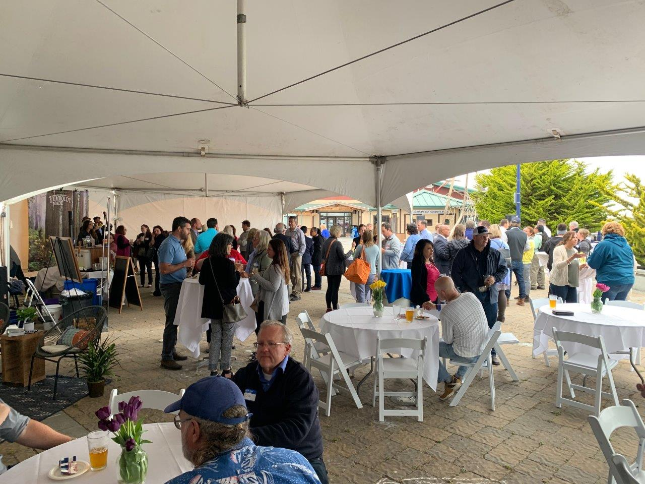 A panorama of the event down on the Madaket Plaza