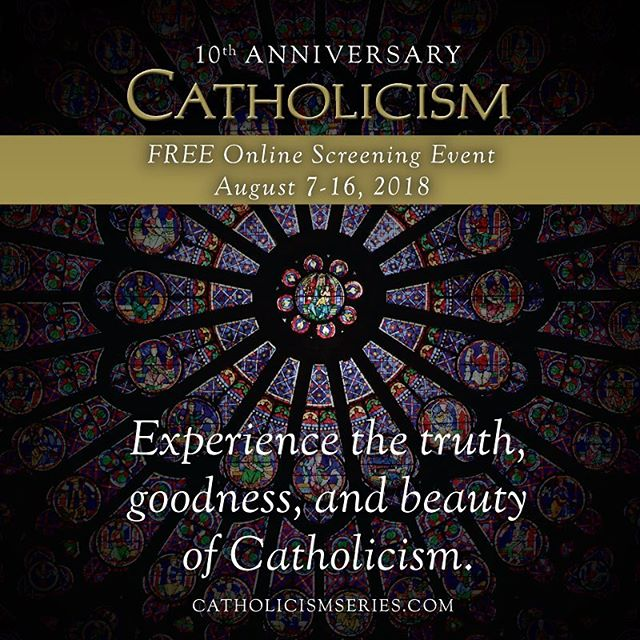 What to see our faith explained in a dynamic way? You can watch @bishopbarron in his critically acclaimed series for free next week. Sign up at https://CatholicismSeries.com to watch the series starting August 7th.