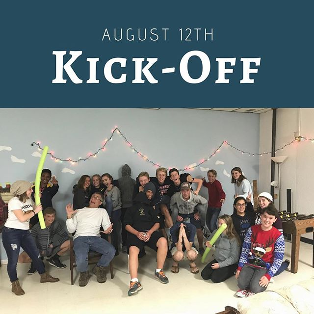 Come out to our Kick-Off this Sunday! 7th-8th Graders join us at 9am at the school. 9th-12th meet us in the Upper Room above the gym