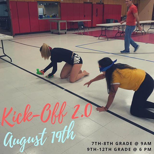 Come out for our second Kick-off this week!