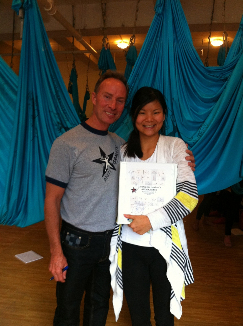 Ellany with Christopher Harrison in 2013 when she received her certification