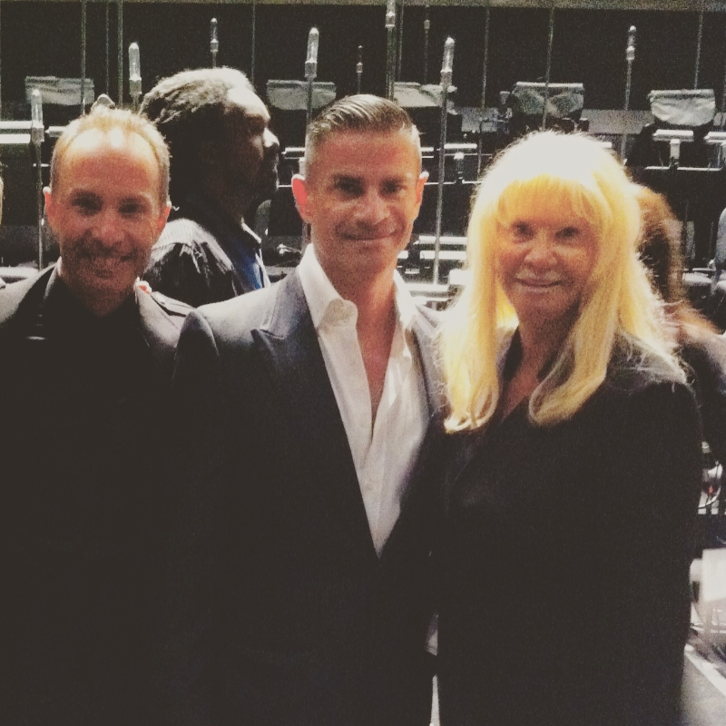Christopher Harrison, Alexander Schlempp and Guiliana Schlempp at the Rose Theatre Lincoln Center, New York City 2011.