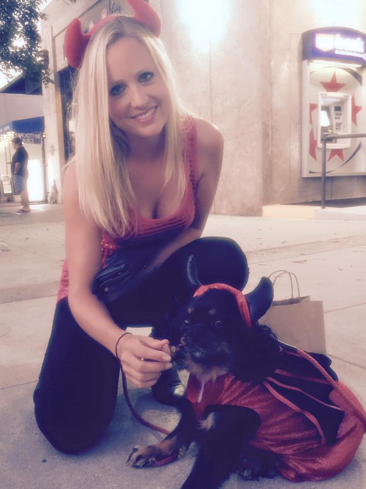 Brandi and Digby as little devils!
