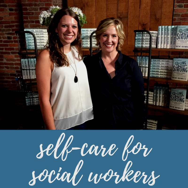 Jessica's two favorite social workers. Lydia Burris and Brené Brown.