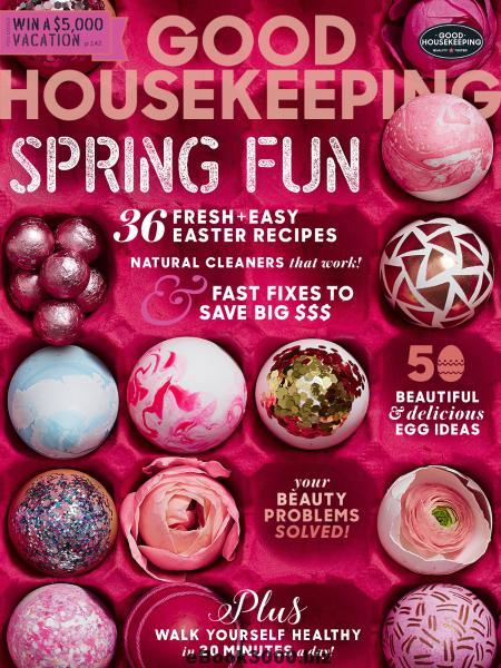 Good Housekeeping feature in beauty column April 2107