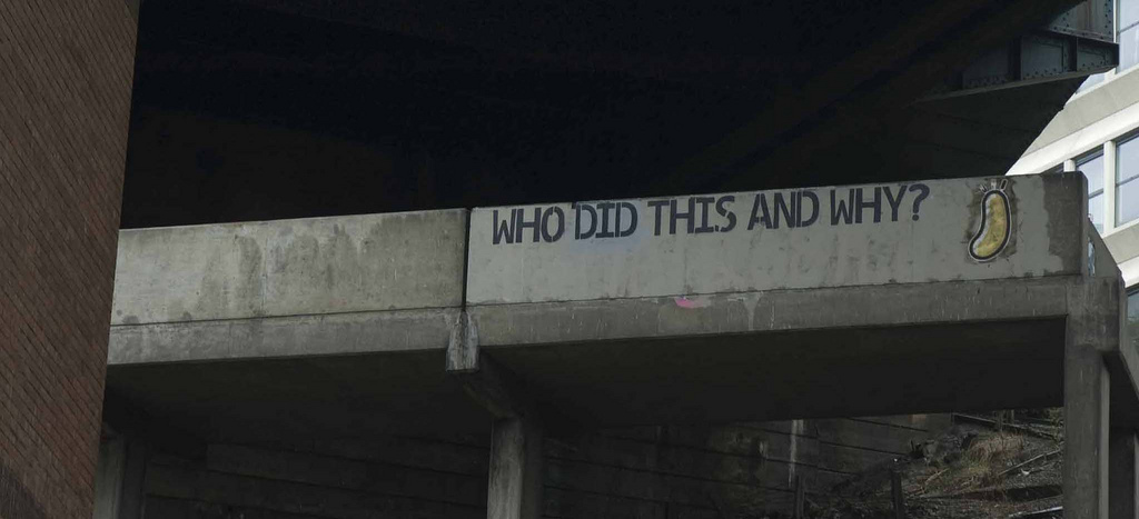One of the questions behind graffiti.