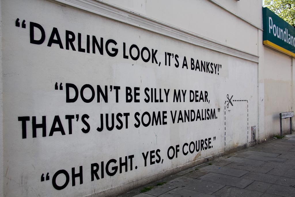 The thing I like most about Banksy is how hypocritical he can make people look.