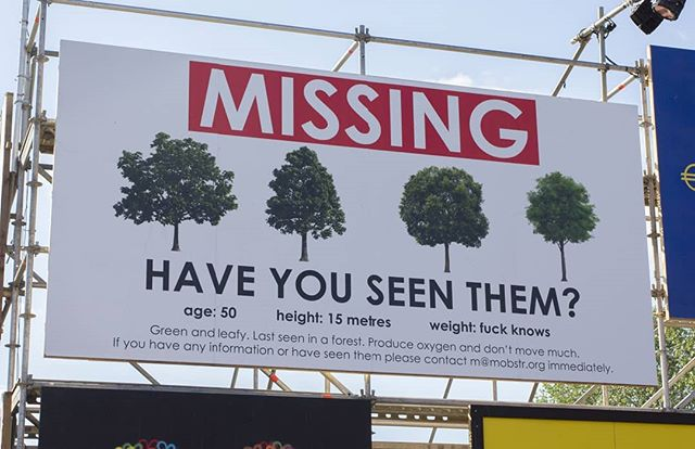 """Shangri-la, Glastonbury Festival.  In the words of @greenpeace """"jungle is not massive""""  What we gonna do about it? Probably nothing. Enjoy the ride whilst it lasts. Thanks to @subvertiser for the 3am sort out  And... @shangrilaglasto @shangrilart @glastofest  #glastonbury"""
