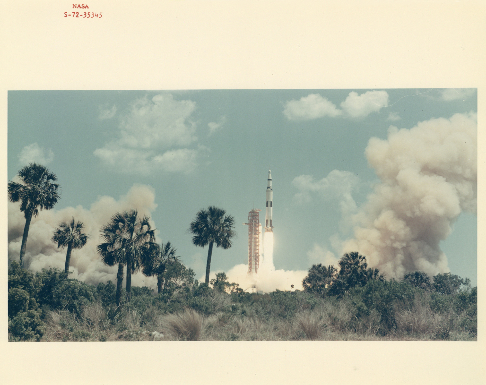 """""""From the Earth to the Moon: Vintage NASA Photographs,""""  Liftoff, Apollo 16 , 1972"""