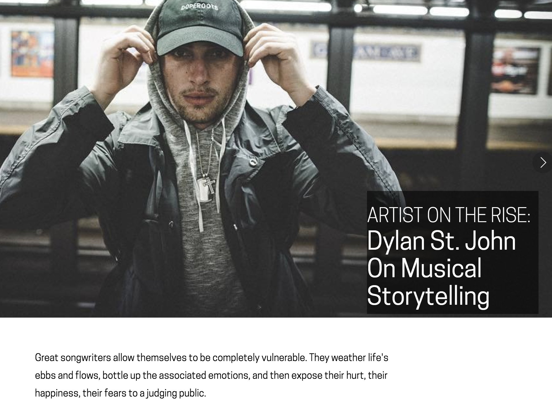 INTERVIEW ON SONG WRITING