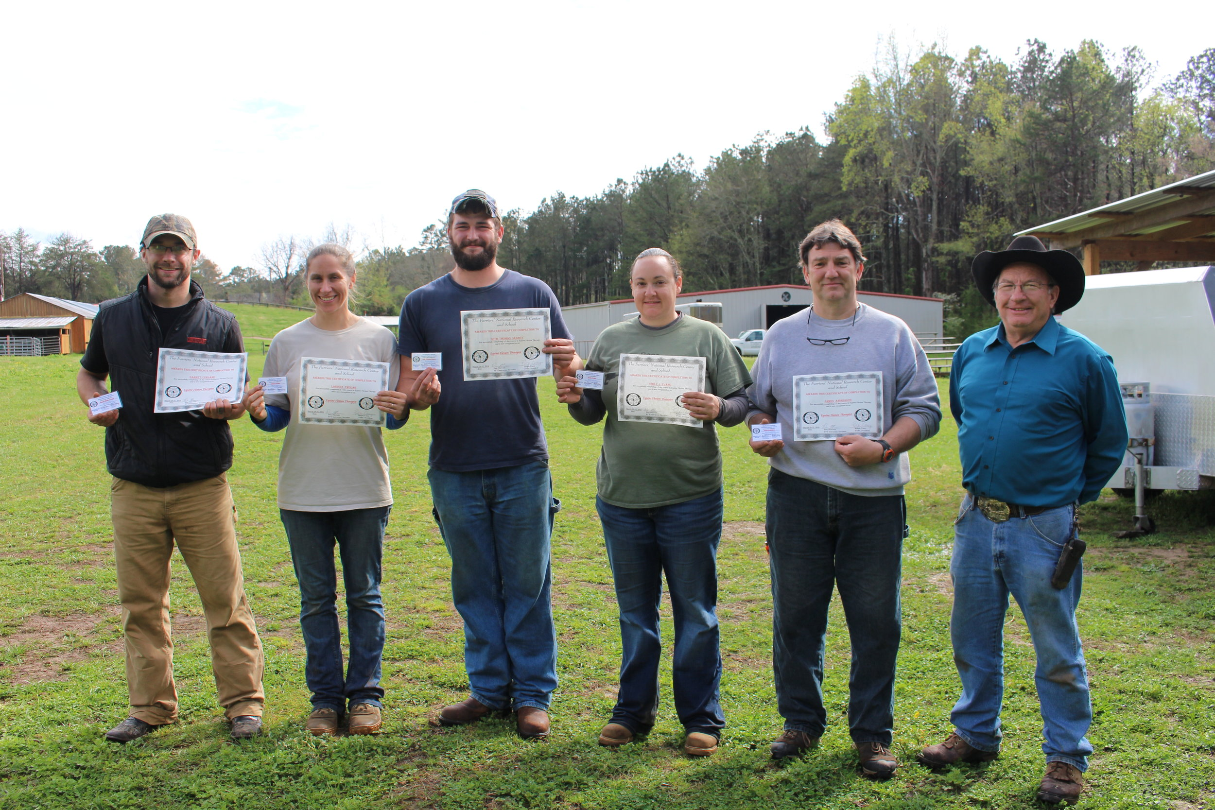 EFT March 2016 Georgia Course Graduates, Garrett,  Larissa,  Seth, Emily, James  and Instructor Dan Marcum.JPG