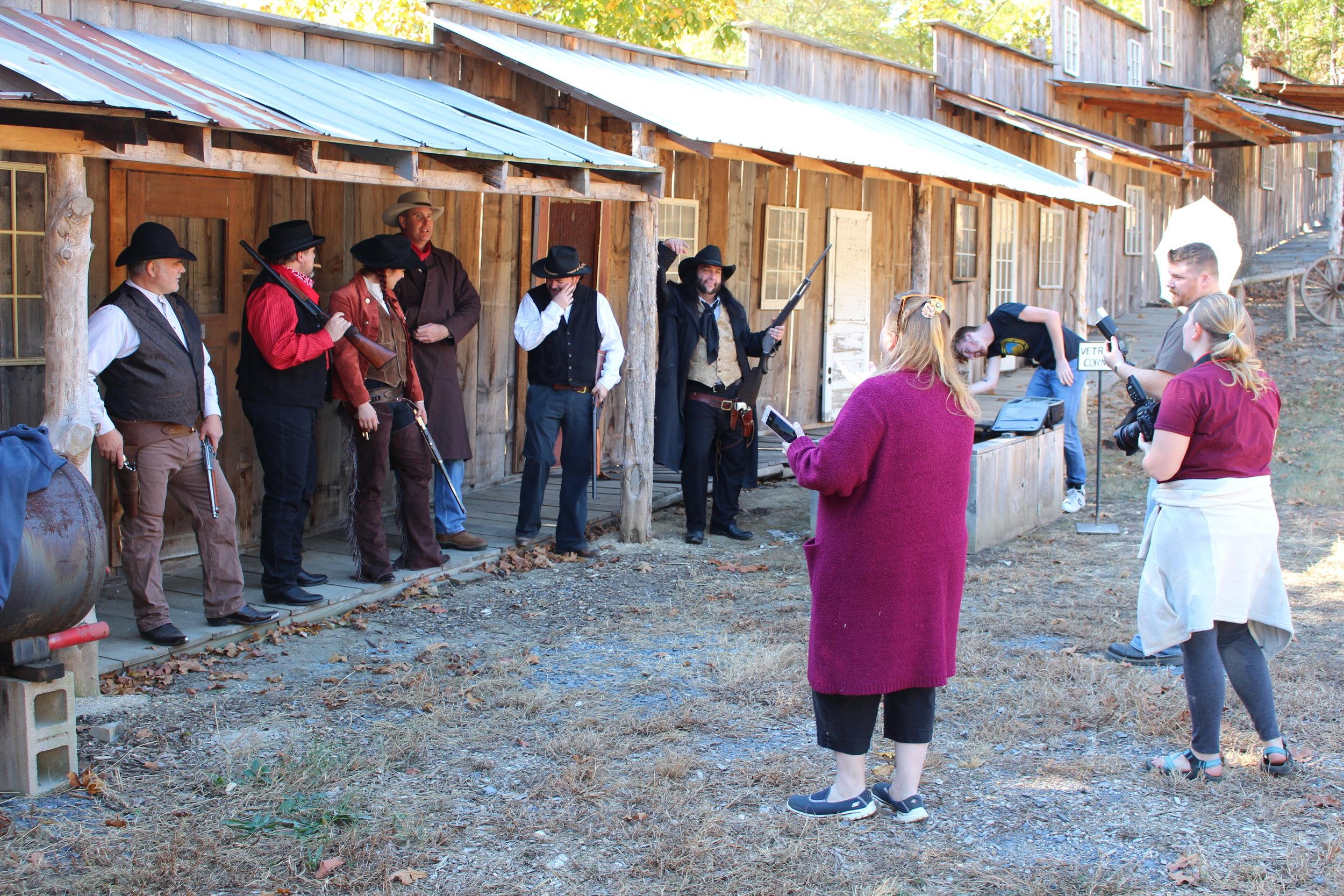 Veteran Movie cast at Fort Villanow with NEHRF.JPG