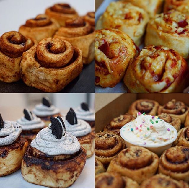 @flourgirlbaking will be selling vegan cinnamon buns and cupcakes for $1 each at noon at Community Eats today!