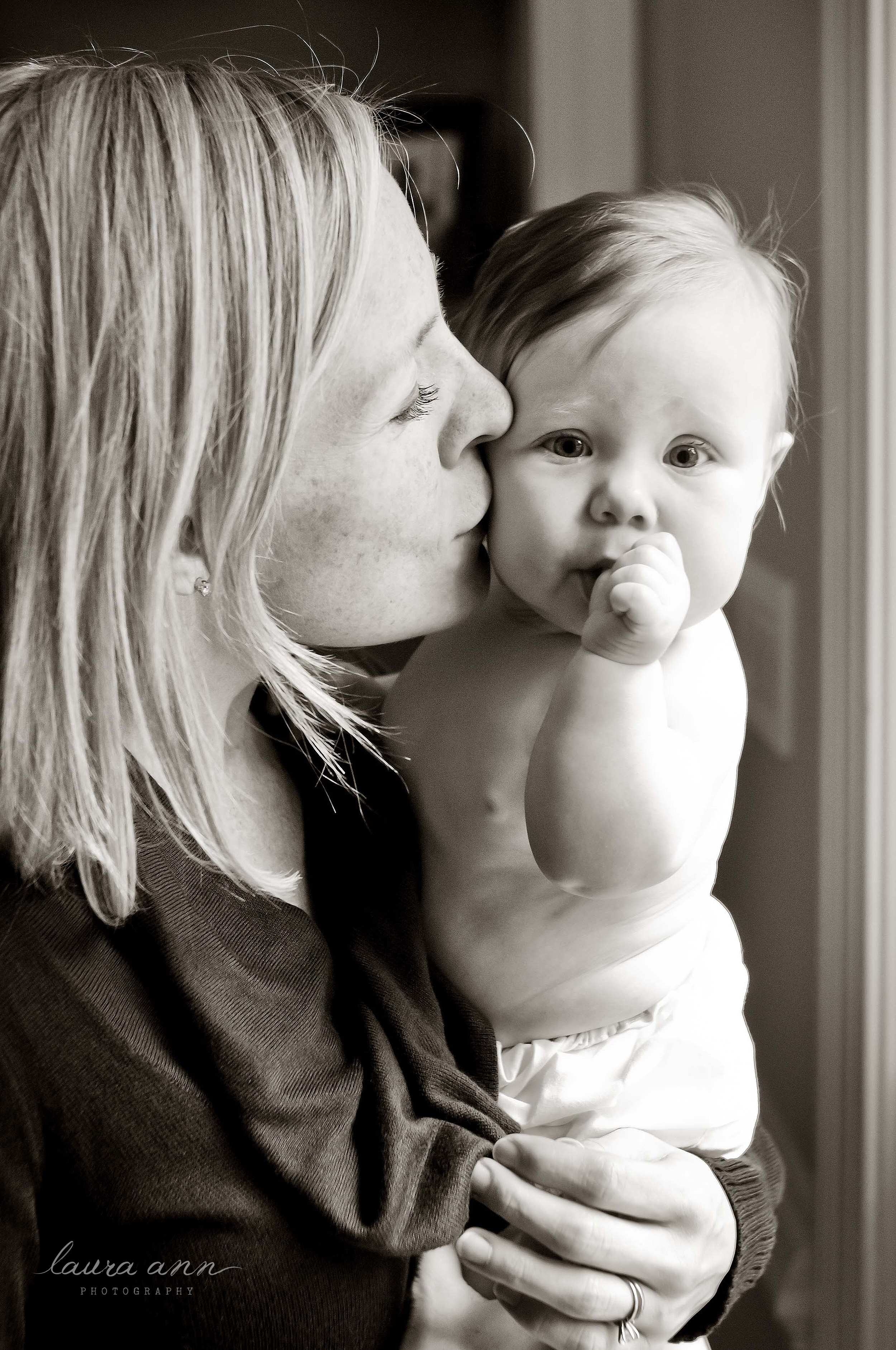 mother and baby black and white photo by raleigh family photographer