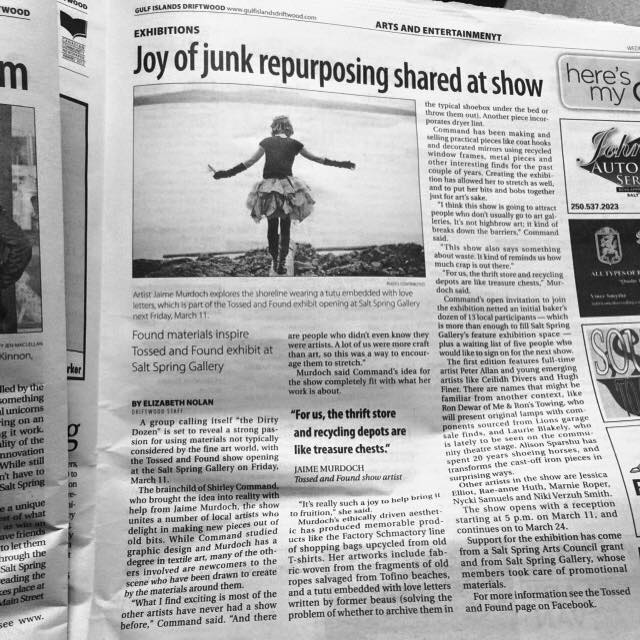 Salt Spring Driftwood article by Elizabeth Nolan and photo by Julia York