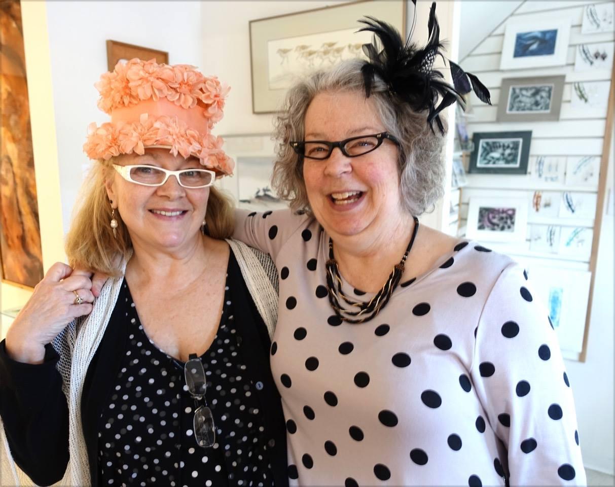 Painter Dawn Davies and bead jeweller Leslie DeAthe