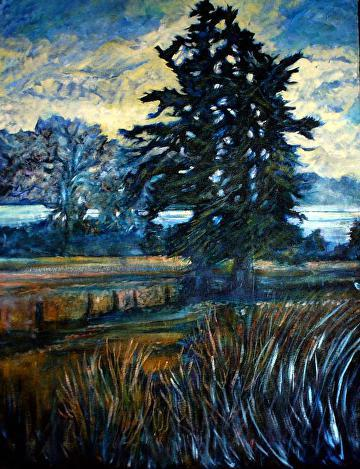 "Burgoyne Bay Oil on Canvas 28"" x 24"" x 1/2"" $1,200.00 CAD"