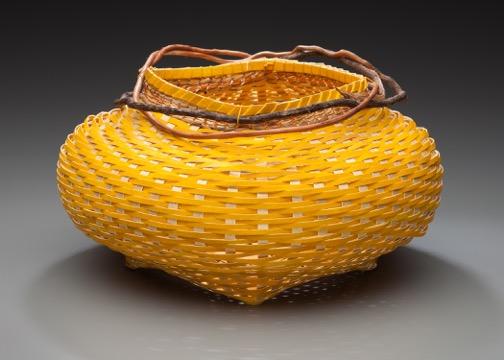 Fran Sloan-Sainas- yellow paper basket