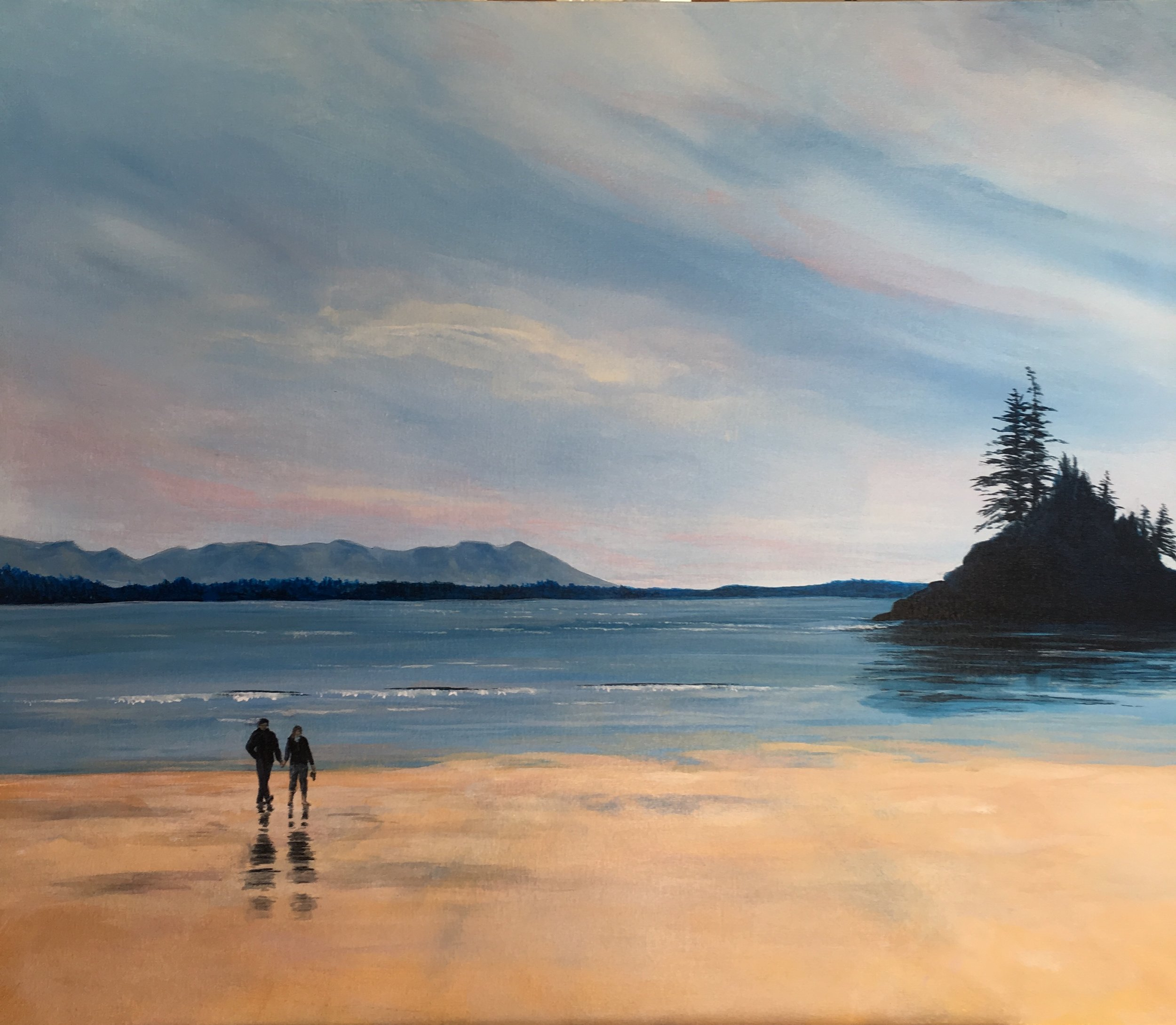 """""""Morning Walk""""  24""""x36""""  Acrylic on canvas by Allison Brodie"""