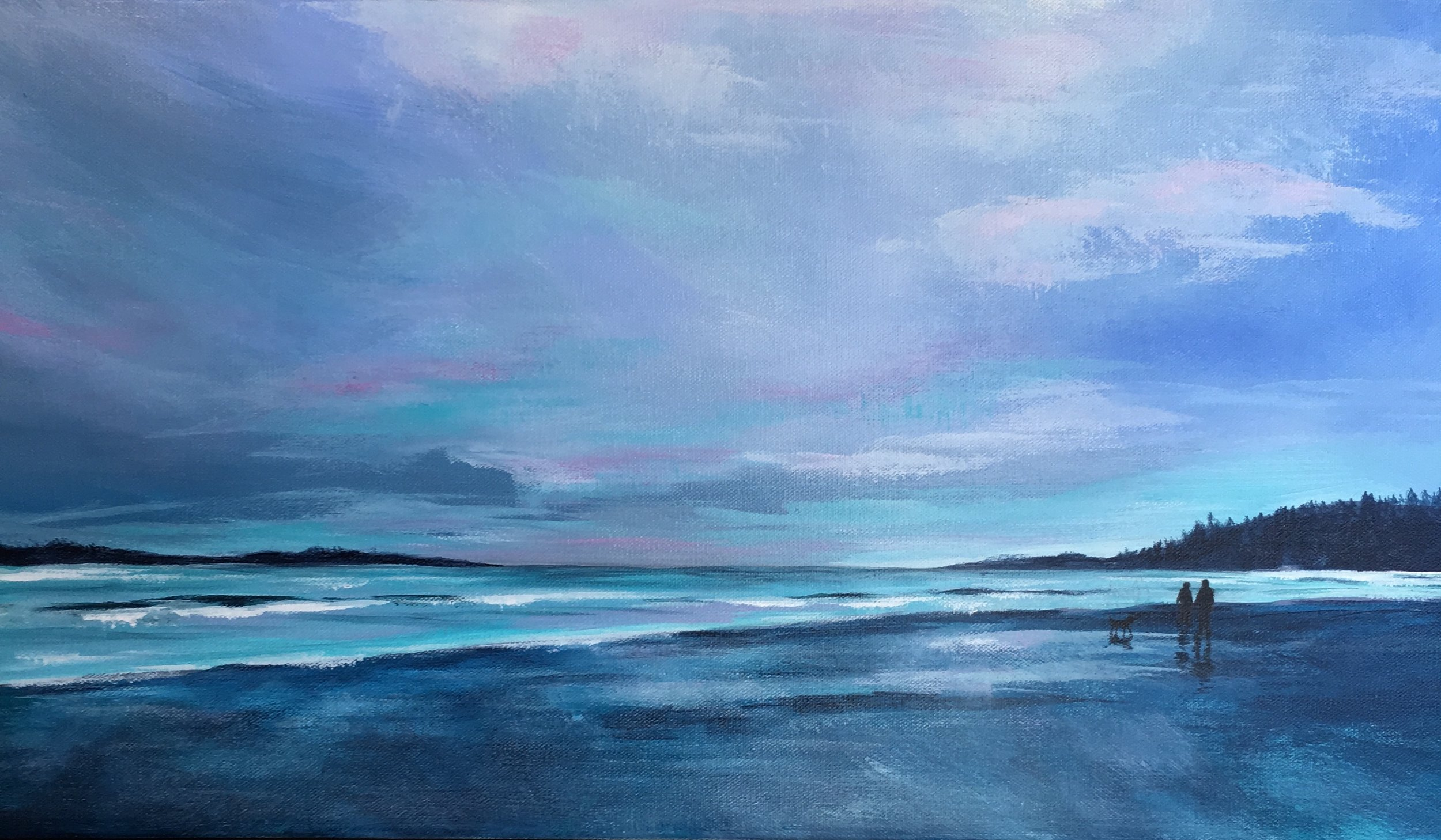 """""""Island Life""""  12""""x24""""  Acrylic on canvas by Allison Brodie"""