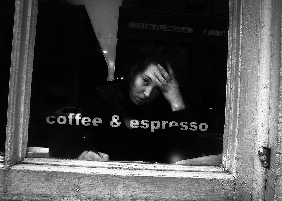 """BILL MACPHERSON- """"Espresso"""" photograph, 8 x 12 $100"""