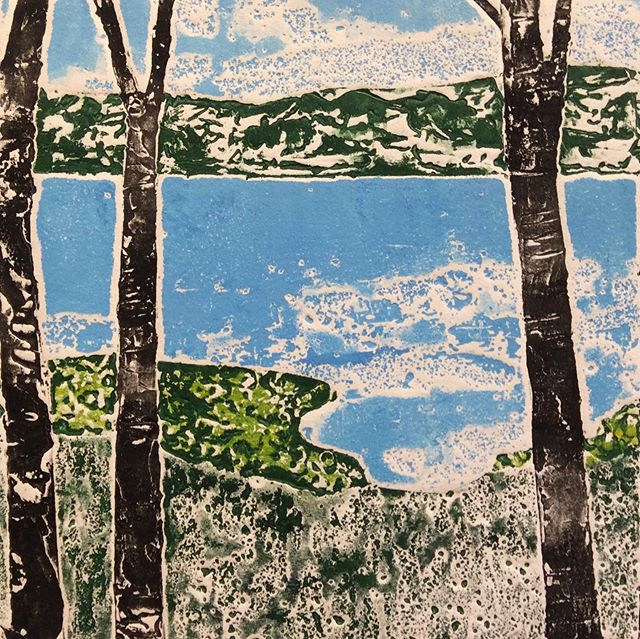 Printmaker extraordinaire Evelyn Russell opens Far Shore today. Yummies and wine 5-7. #printmaking #salishsea #bcartist #artopening #summerart