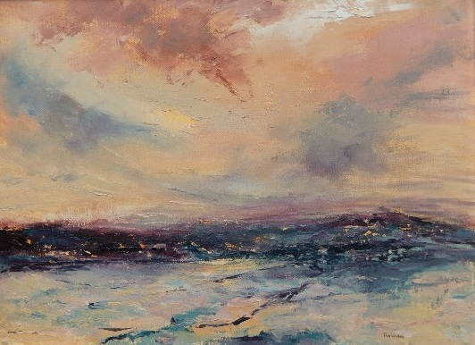Tidelines- oil on canvas
