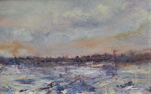 Winter series 3 - oil on canvas
