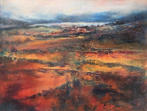 Moody Bog 2- Donegal- oil on canvas