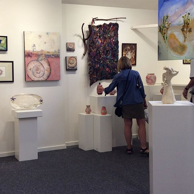 Early birds at TENacity 10th anniversary show. #openstonight #beautifulart #don'tmissit #bcartists #saltspringartists