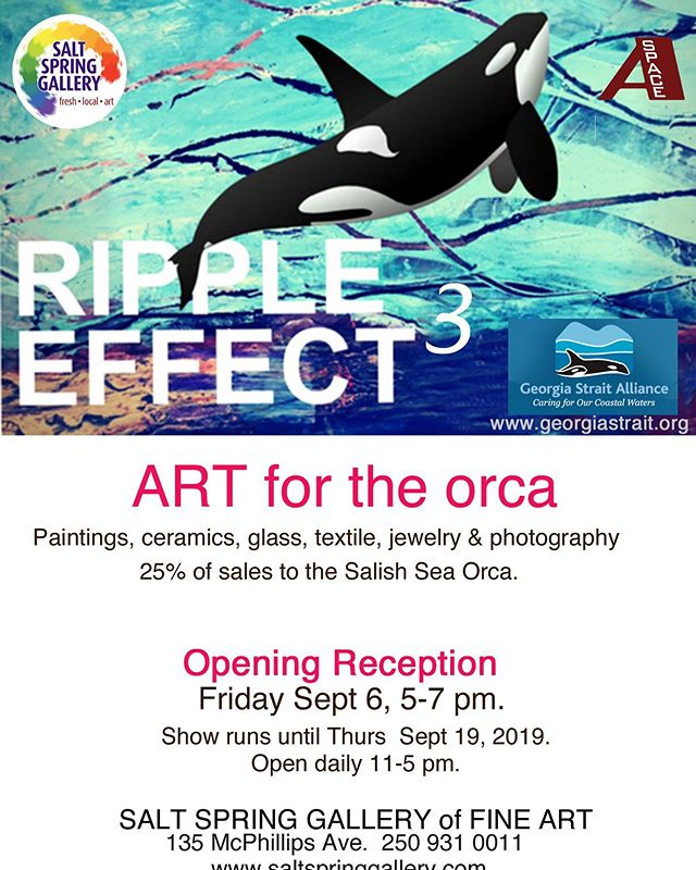 Three more sleeps.... #artthatmakesadifference #salishsea #orca #bcartists #saltspringartists #saltspringgallery