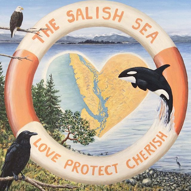 Wow we love this brand new image from gallery artist Susan Haigh available at Ripple Effect 3- Art for the Orca. #buyartthatmakesadifference #salishsea #saltspringartists #bcartists