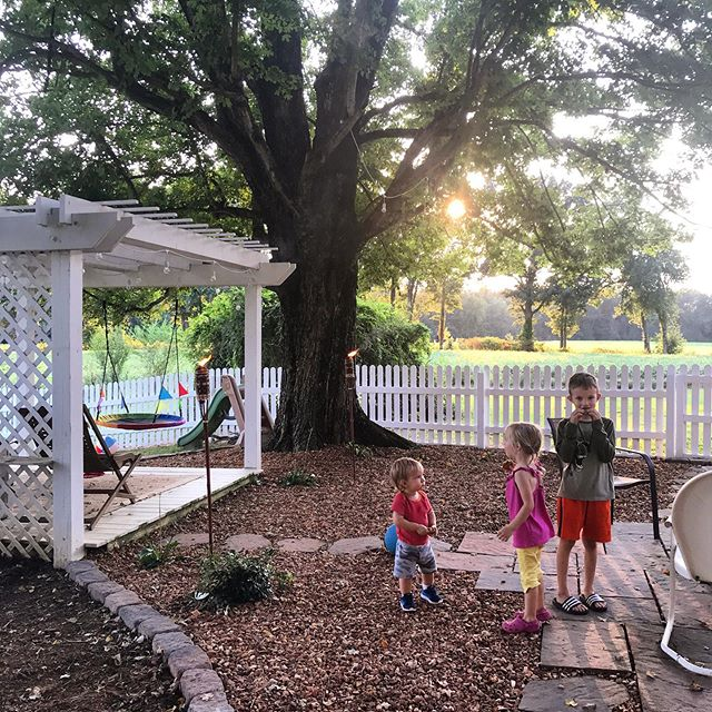 My gratitude list is long, but here's the short version: 3 healthy and bright kids to call my own, homemade cookies, a backyard space that functions well for our family and cooler evenings to enjoy it. #emeraldhomestead