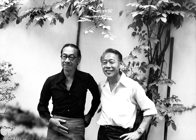 With I.M. Pei, at home, rue Jonquoy, 1976. All rights reserved