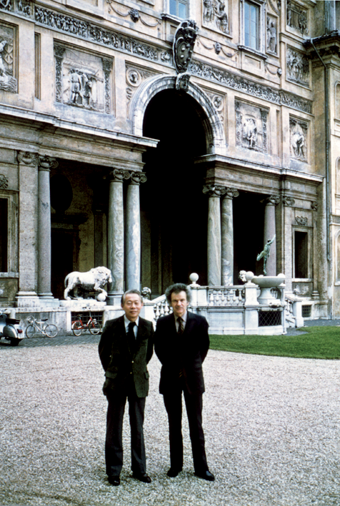 With Jean Leymarie at the Villa Medicis, Rome, 1986. All rights reserved
