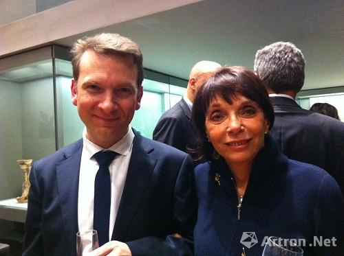 Eric Lefebvre, director of the Cernuschi Museum and Françoise Marquet-Zao