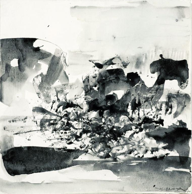 Zao Wou-Ki, 1970, Ink on paper