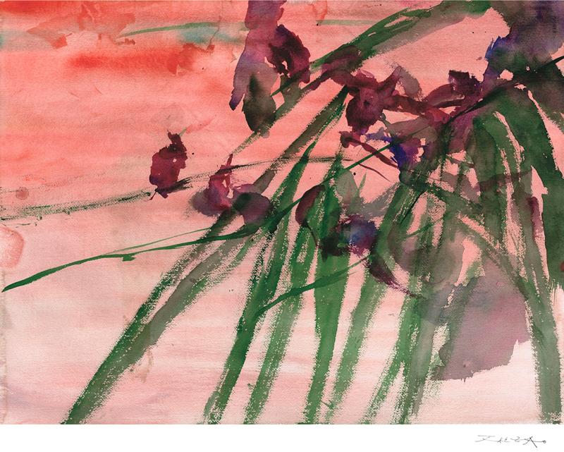 Zao Wu-Ki, Île-Maurice,impression pigmentaire 2011 © Zao Wu-Ki
