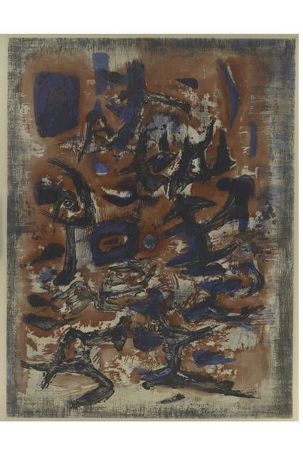 'Signs in Motion' (1957), by Zao Wou-Ki. PHOTO:HERBERT F. JOHNSON MUSEUM OF ART/CORNELL UNIVERSITY