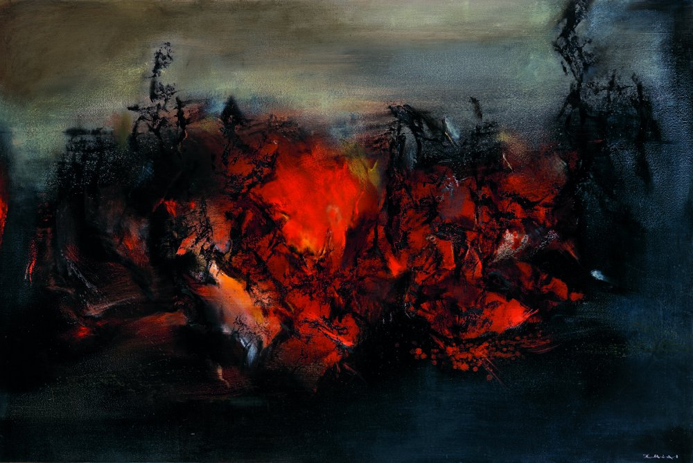 """""""27.02.98,"""" 1998, oil on canvas, 51 by 76 inches.  Photo courtesy of Colby College Museum of Art"""