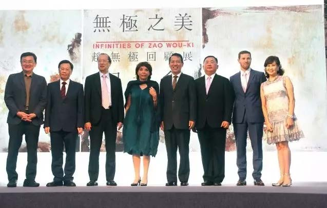 Guests at the opening ceremony:  Infinities of Zao Wou-Ki