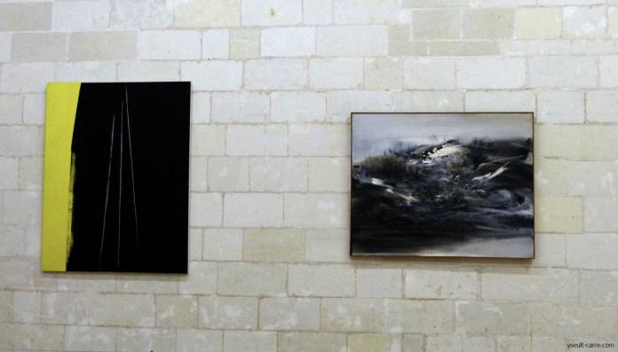 Hans Hartung et Zao Wou-Ki à l'exposition Pompidou à Chambord. Photo Yseult Carré