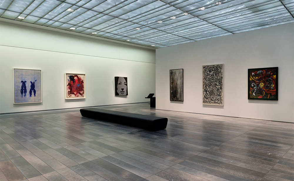 Contemporary gallery at the Abu Dhabi Louvre Museum. Photo by Marc Domage. Reserved rights