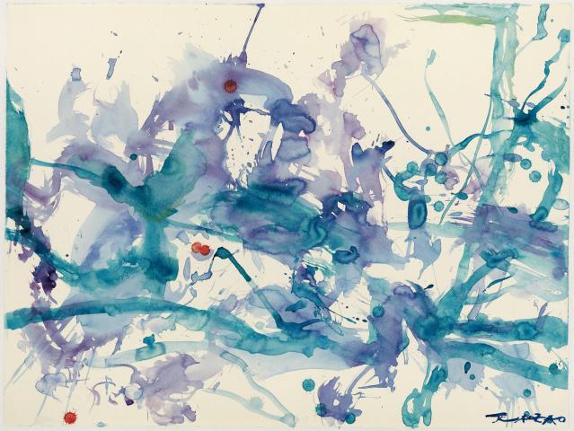 Zao Wou-Ki. Untitled, watercolor 2006 (57 x 76 cm)
