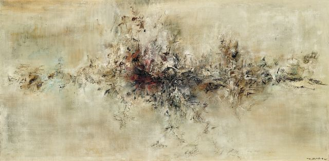 Zao Wou-Ki, Traversée des apparences, 1956 © Dennis Bouchard - Zao Wou-Ki © ADAGP, Paris, 2018
