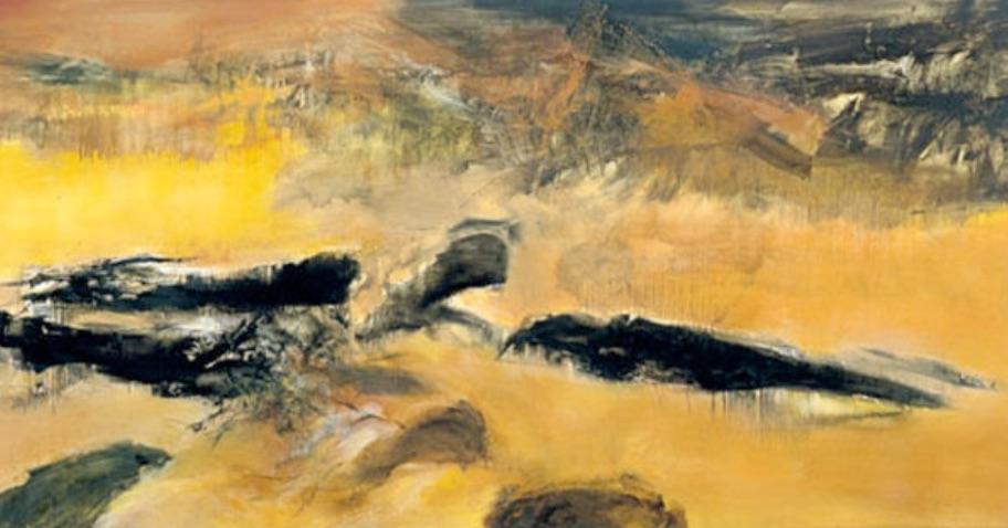 Zao Wou Ki : En mémoire de May, 1972. (Détail). Huile sur toile, 200 cm x 525,7. Adagp, Paris 2018. Dennis Bouchard