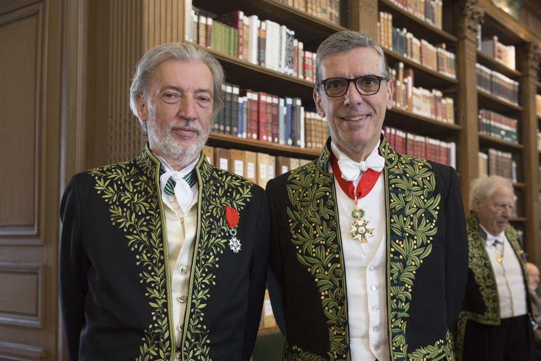 Jean-Marc Bustamante et Henri Loyrette. DR