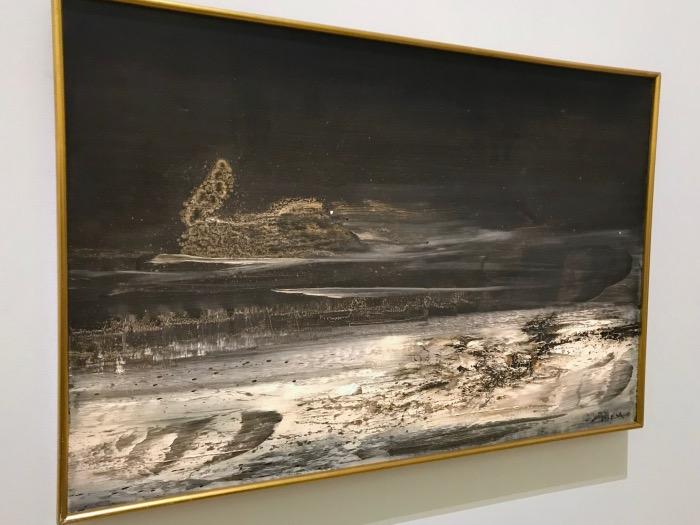 Zao Wou-Ki,  Hommage  à Henri Michaux, 1963