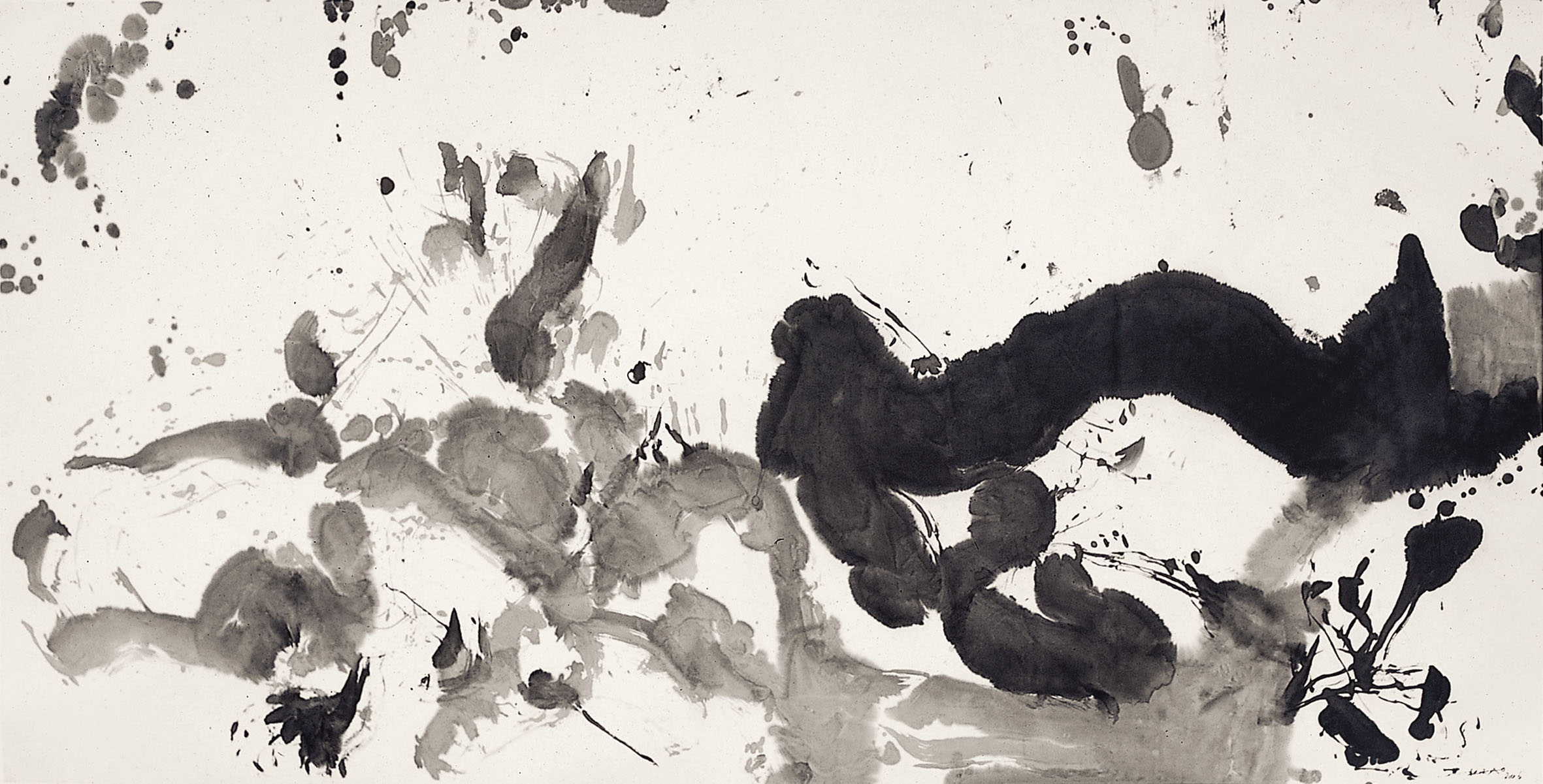 Untitled, Chinese ink on paper,   2006 (125,5 x 246,5 cm). RR.
