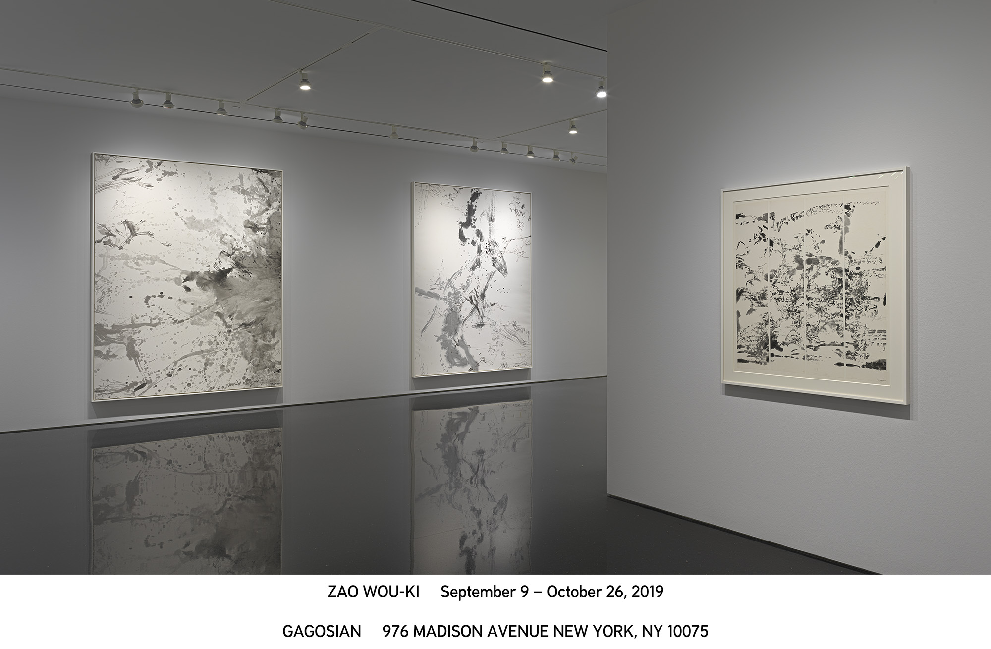Exposition Zao Wou-Ki à la Gagosian Gallery de New York. Photo: Gagosian Gallery